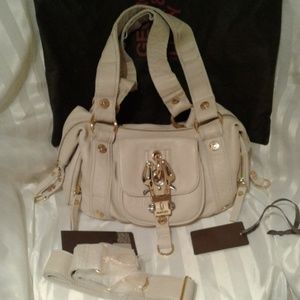 George Gina Lucy calf leather Las Angelinas NWT